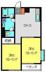 フラット福寿第54階Fの間取り画像