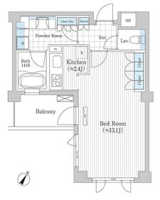プラチナコート広尾3階Fの間取り画像