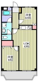 新高島平駅 徒歩18分5階Fの間取り画像