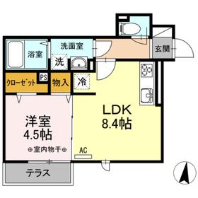 LUMIUS1階Fの間取り画像
