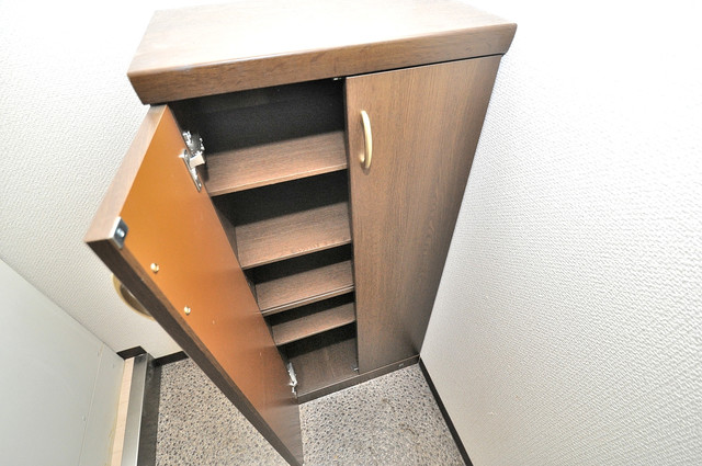 ウィダーホール23 玄関にはコンパクトながらシューズボックスもありますよ。