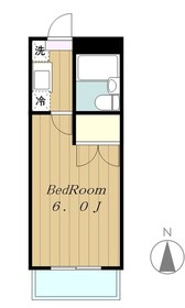 メゾン麻溝台1階Fの間取り画像