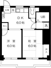 ジュネス川崎5階Fの間取り画像
