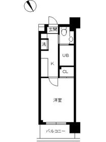 スカイコート新宿壱番館3階Fの間取り画像