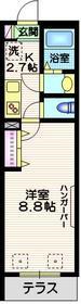 メゾンフルール1階Fの間取り画像