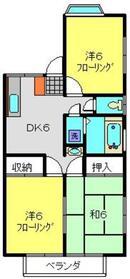 プレミール1階Fの間取り画像