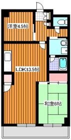 ロアール弐番館2階Fの間取り画像