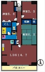 ルーチェ緑が丘A・B・C3階Fの間取り画像
