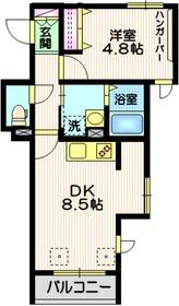 ベルメゾンS2階Fの間取り画像