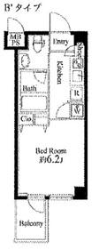 ラスパシオ三軒茶屋4階Fの間取り画像