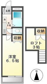 クレセントハイツTOKYUIIA1階Fの間取り画像