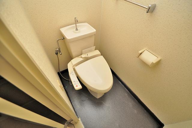 ラ・フォーレ西堤 スタンダードなトイレは清潔感があって、リラックス出来ます。