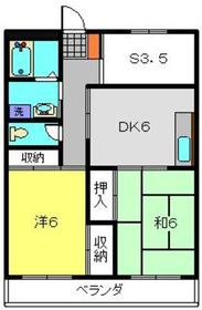 武蔵中原駅 徒歩26分3階Fの間取り画像