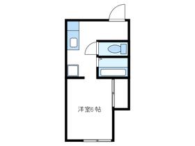 コーポサンライズ2階Fの間取り画像