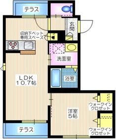 仮称 笹下2丁目メゾン1階Fの間取り画像