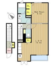 ベルクムント2階Fの間取り画像