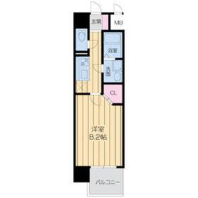 ドゥーエ森ノ宮7階Fの間取り画像