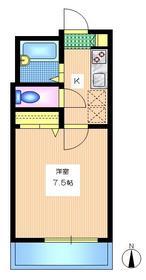 コリーヌスガイ1階Fの間取り画像