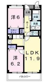 パタトデゥース3階Fの間取り画像