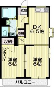 プルミエール武蔵野1階Fの間取り画像