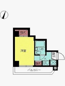 スカイコート川崎57階Fの間取り画像