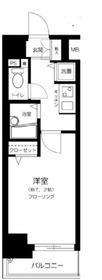 スパージオ横浜反町6階Fの間取り画像