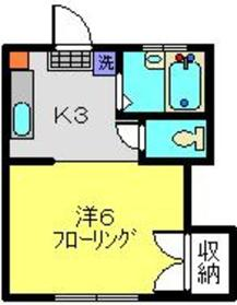 日吉本町駅 徒歩16分1階Fの間取り画像
