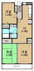 アジュール湘南1階Fの間取り画像