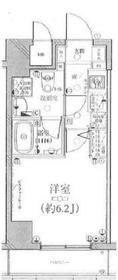グリフィン横浜ポートサイド弐番館6階Fの間取り画像