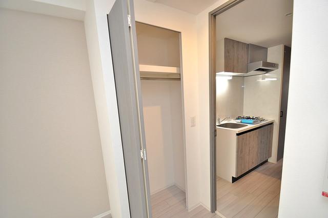 レジュールアッシュOSAKA新深江 もちろん収納スペースも確保。いたれりつくせりのお部屋です。