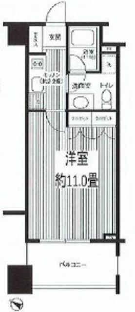 参宮橋駅 徒歩5分間取図