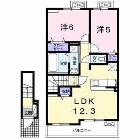 北八王子駅 徒歩16分2階Fの間取り画像