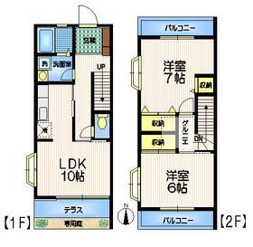 ウダガワハウジング2階Fの間取り画像