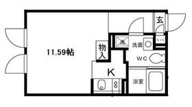 ALERO HakusanII (アレーロ白山2)2階Fの間取り画像