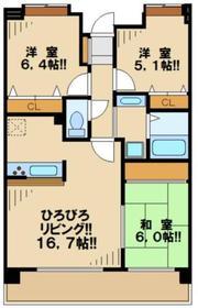 シャルマン4階Fの間取り画像