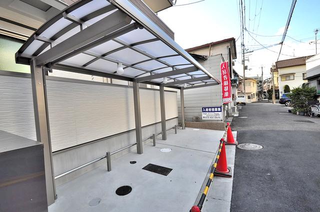 フジパレス高井田西Ⅰ番館 あなたの大事な自転車も安心してとめることができますね。