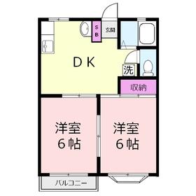 メゾン ド トア1階Fの間取り画像
