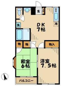 シャンゼリゼ柚木ビル4階Fの間取り画像