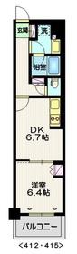 ステーションツインタワーズ糀谷 フロント・ウエスト4階Fの間取り画像
