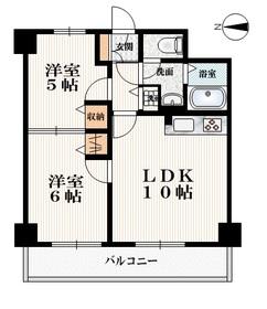 プレミール・オークス5階Fの間取り画像
