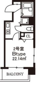 スカイコート日本橋浜町公園10階Fの間取り画像