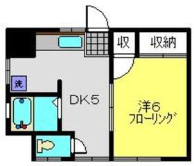第2福田ハイツ1階Fの間取り画像