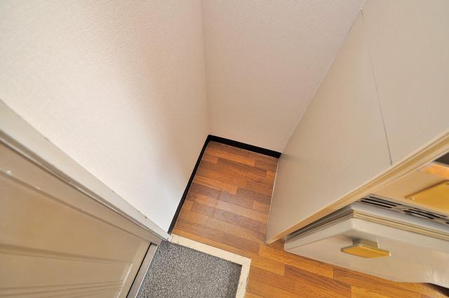 YOUハイム寿Ⅱ番館 冷蔵庫置き場も確保。キッチンのすぐ横だから使いやすい。