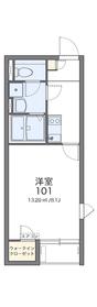 レオネクストフラッツⅡ2階Fの間取り画像
