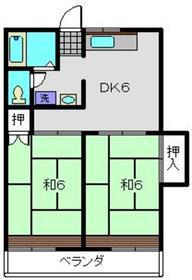 日吉駅 徒歩17分2階Fの間取り画像