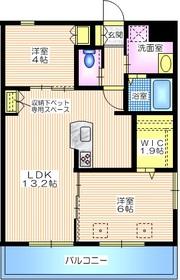 エステート東戸塚1階Fの間取り画像