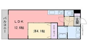 サクセス伊都本館1階Fの間取り画像