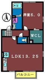 ラークヒル夏見 A棟2階Fの間取り画像