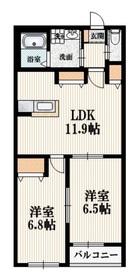 ルシオールメゾン2階Fの間取り画像