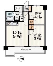 プレミール・オークス7階Fの間取り画像